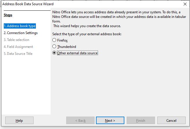 Register Data source