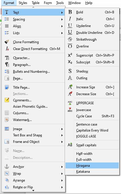 format fonts